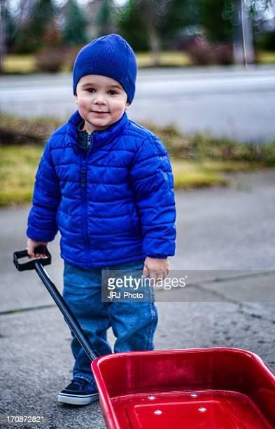 Boy & Wagon