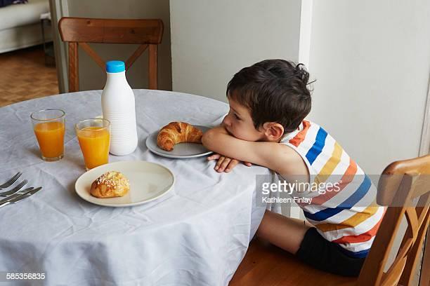 Boy waiting for breakfast
