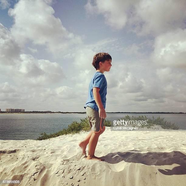 Boy Walking Dunes