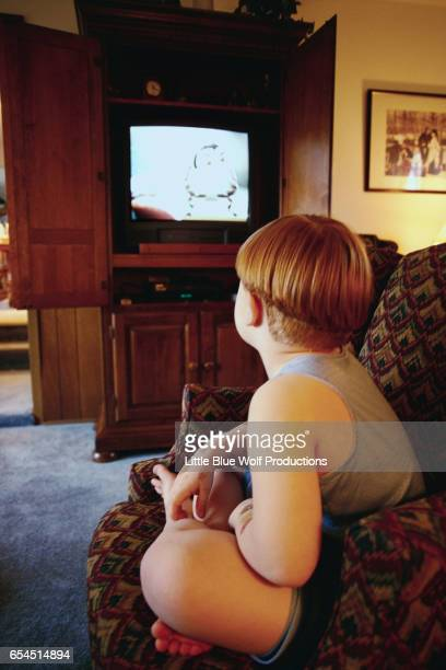 Boy Watching Television