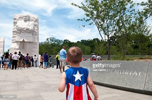 Two heroes: Captain America meets MLK Jr.