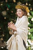 Boy wearing a festive costume