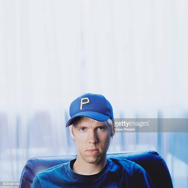 Boy Wearing Baseball Cap