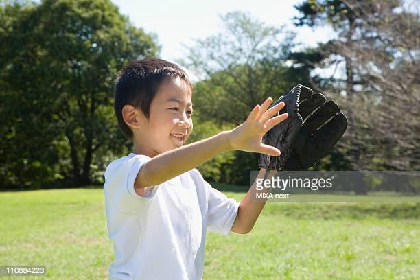 Boy Wearing Glove