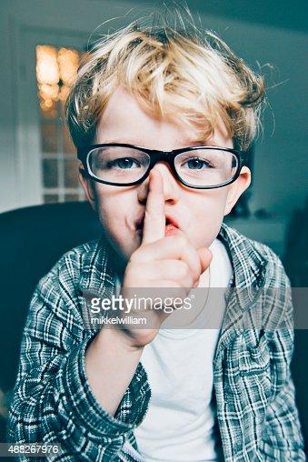 Boy メガネとは、静かにサインインする