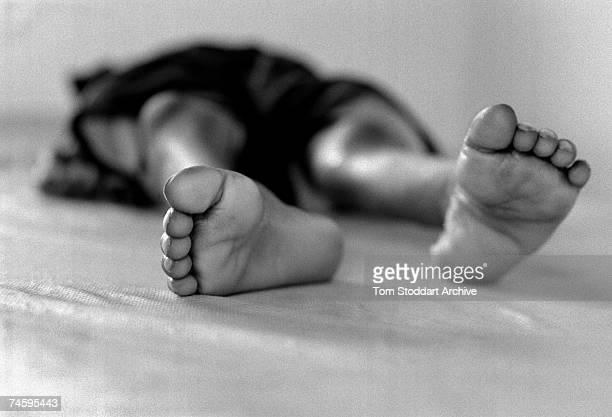 A boy who died of AIDS in a hospice in Chilanga Zambia May 2000