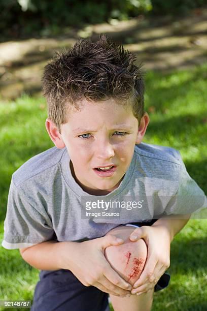 Boy with a grazed knee