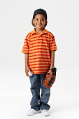 Boy with Baseball and Baseball Glove