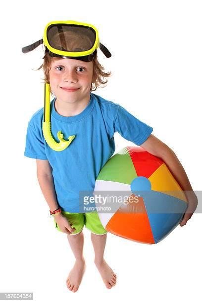 boy with beach ball