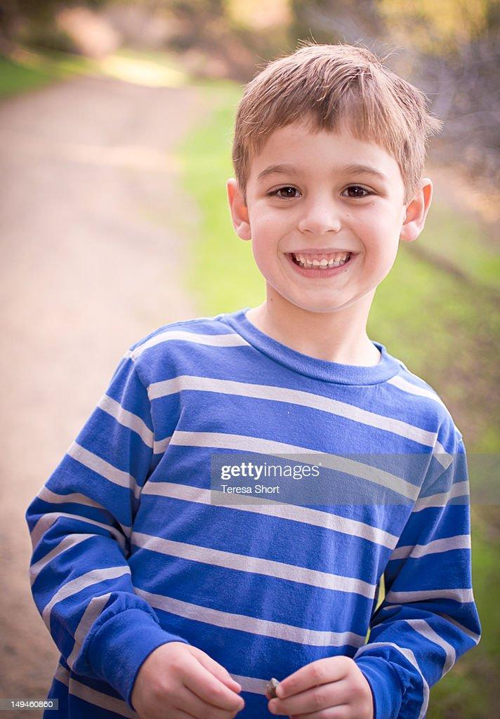 Boy with big smile : Stock Photo