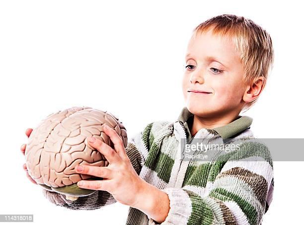 Boy with brain