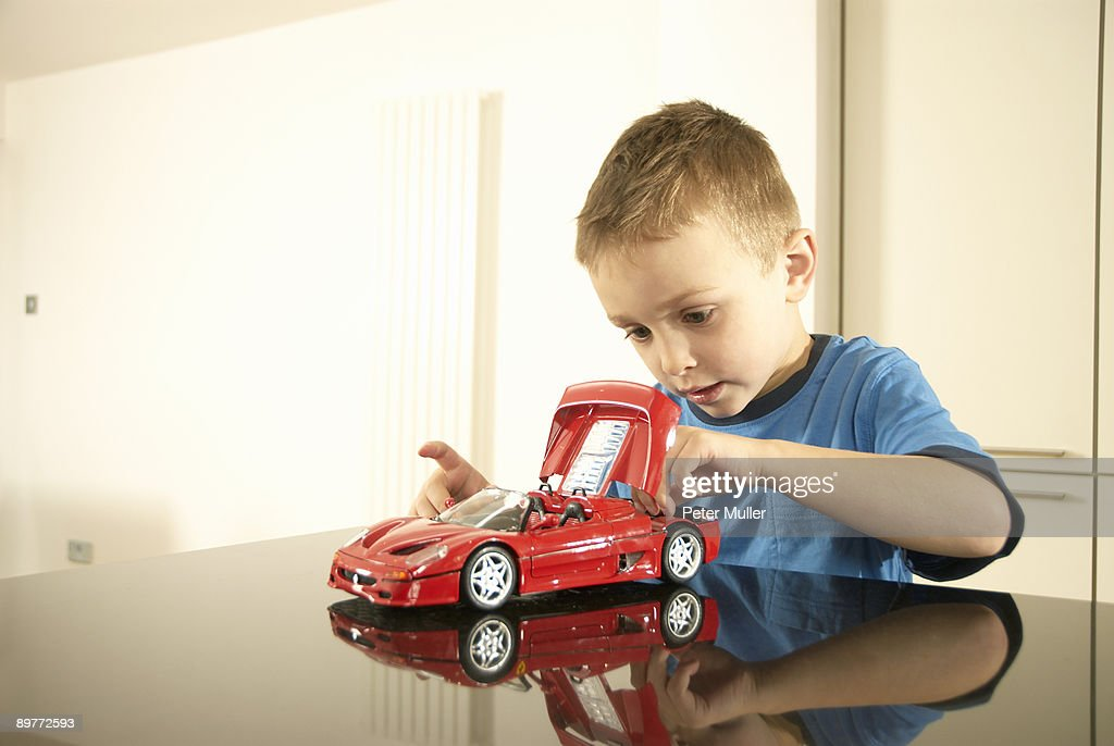 boy with car