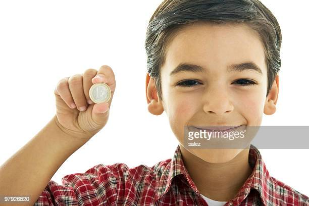 Boy with coin