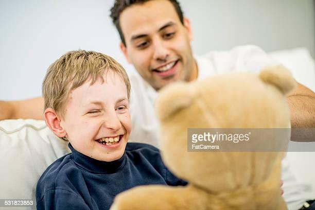 Boy with Developmental Disability