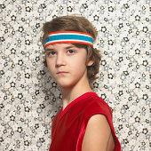 Boy with headband