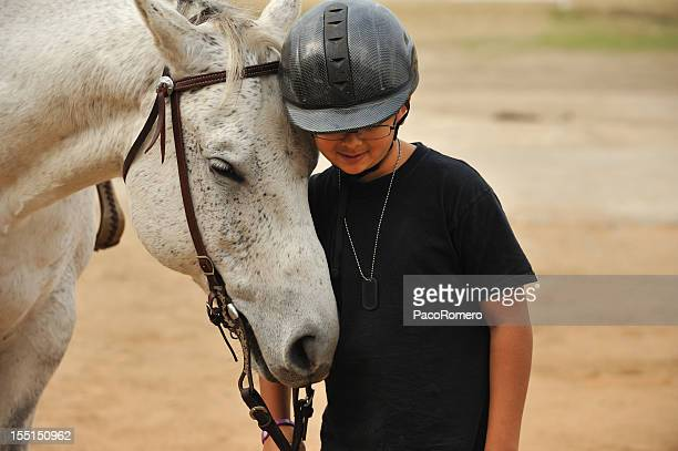 Boy with his horse