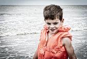 boy with life vest