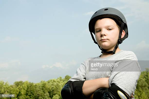 Boy with Safety Helmet