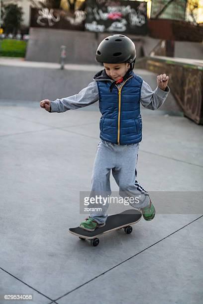 Boy with skate