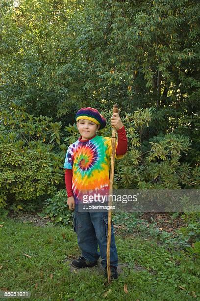 Boy with stick