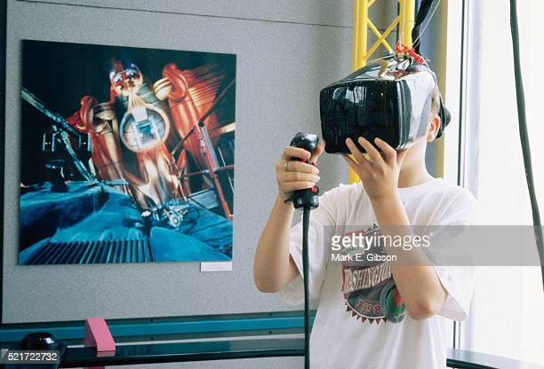 Boy with Virtual Reality Game
