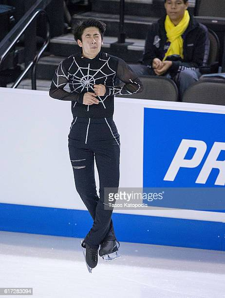 Boyang Jin of China competes in the men short program at 2016 Progressive Skate America at the Sears Centre Arena on October 22 2016 in Chicago...