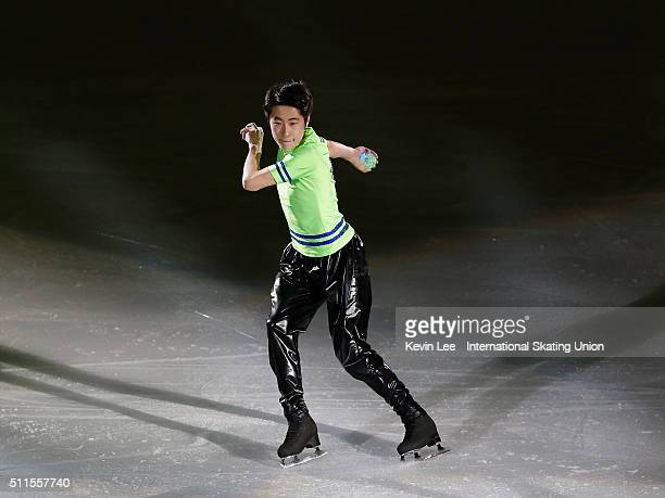 Boyang Jin of China performs at the Gala Exhibition on day four of the ISU Four Continents Figure Skating Championships 2016 at Taipei Arena on...