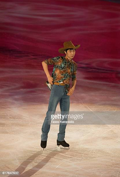 Boyang Jin of China preforms at the Smucker's Skating Spectacular at 2016 Progressive Skate America at Sears Centre Arena on October 23 2016 in...