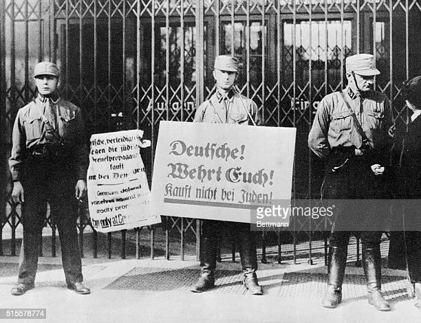 Boycott of all Jewish business activities in Berlin April 1 1933