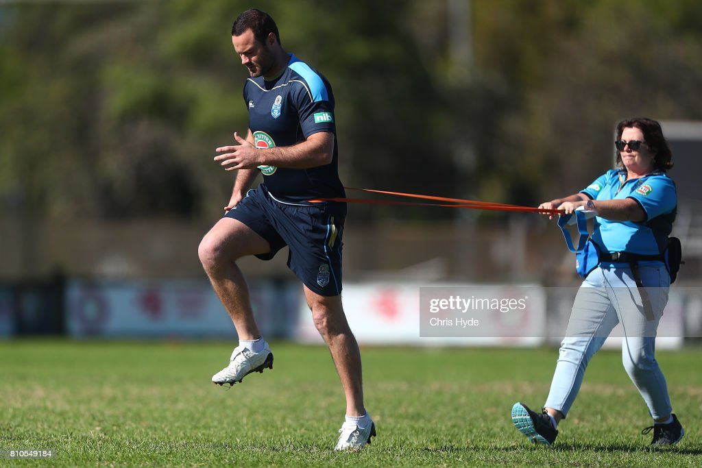 Boyd Cordner during a New South Wales Blues State of Origin Training Session on July 8, 2017 in Kingscliff, Australia.