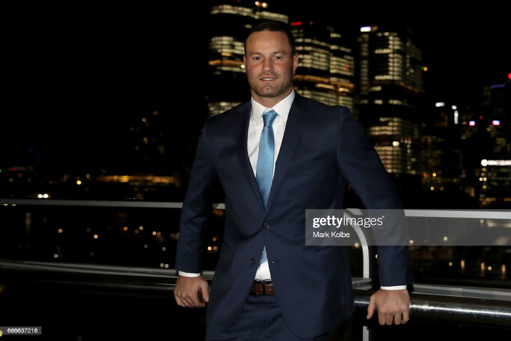 Boyd Cordner poses after his announcement as the Blues captain during the New South Wales State of Origin team announcement at The Star on May 22, 2017 in Sydney, Australia.