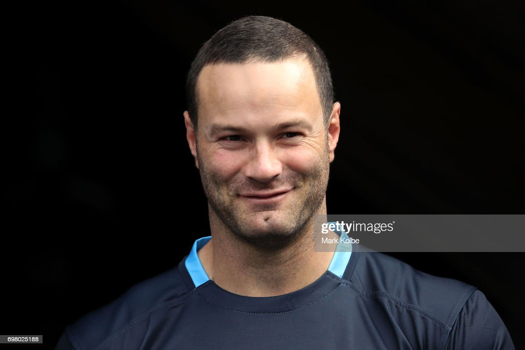 Boyd Cordner walks out onto the field during a New South Wales Blues State of Origin captain's run at ANZ Stadium on June 20, 2017 in Sydney, Australia.