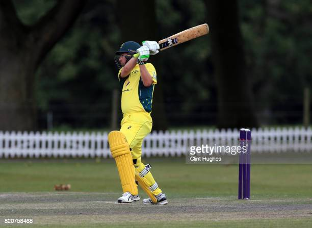 Boyd Duffield of Australia bats during the T20 INAS TriSeries against South Africa at Toft Cricket Club on July 18 2017 in Knutsford England