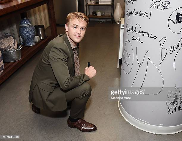 Boyd Holbrook attends AOL Build Presents Discussion on Season 2 Of Netflix's 'Narcos' with Boyd Holbrook at AOL HQ on August 30 2016 in New York City