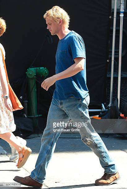 Boyd Holbrook is seen on the movie set of 'Very Good Girls' on July 18 2012 in New York City