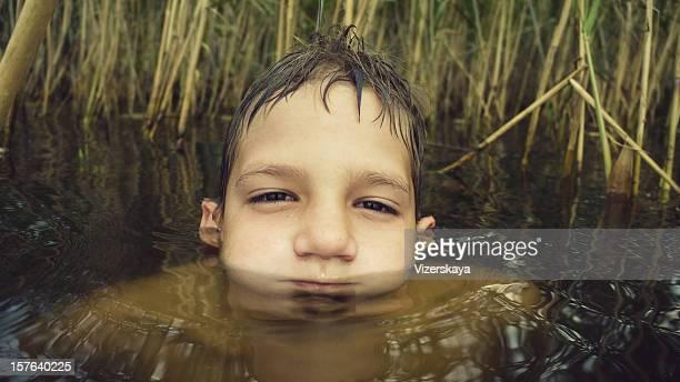 boyface in water