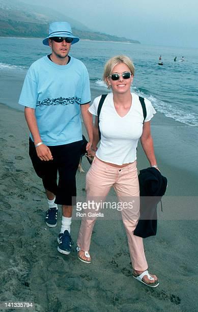 boyfriend and Nicole Eggert at the Premiere Party for 'Clueless' Leo Carillo Beach Malibu