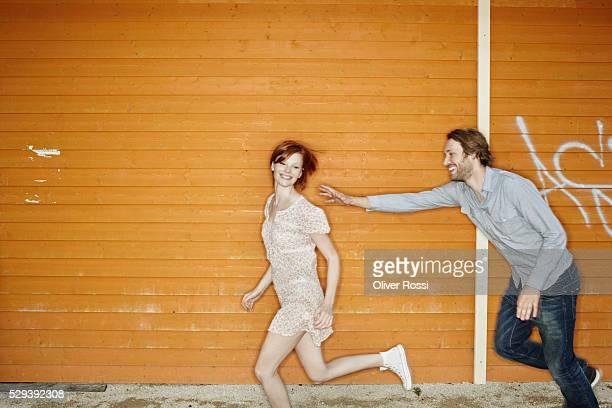 Boyfriend chasing Girlfriend