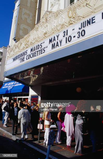 Boys and girls line-up at the Castro Theater in San Francisco.