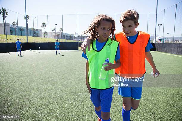 Boys at soccer training