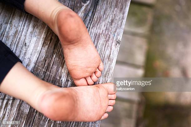 Boys bare feet