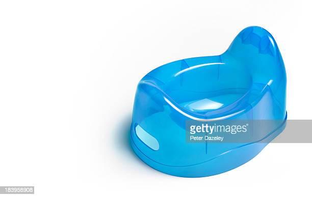 Boy's blue potty