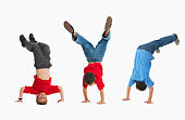 Boys doing gymnastics