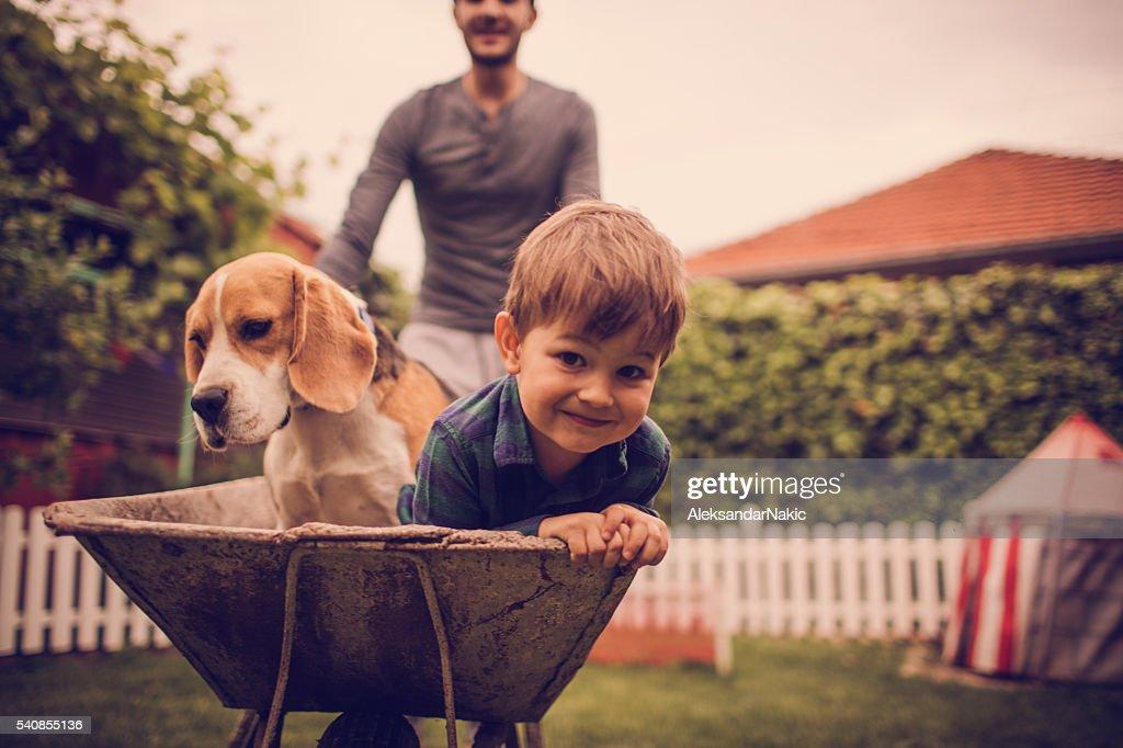 Boys having fun : Stockfoto