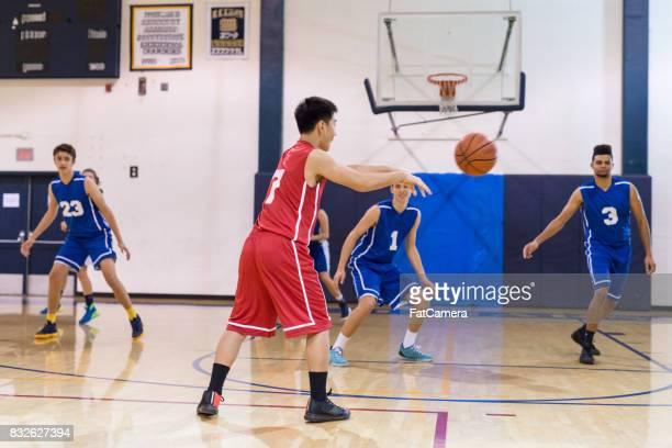 Boys high school basketball game