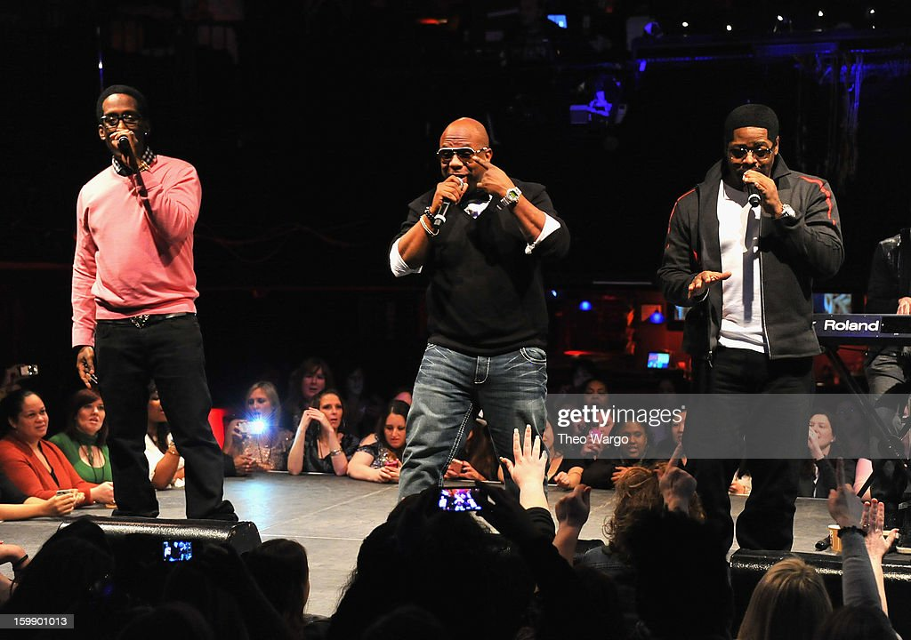 Boys II Men perform during upcoming tour announcement at Irving Plaza on January 22, 2013 in New York City.