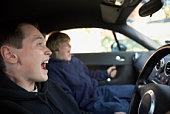 Boys in car