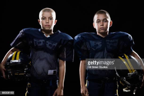 Boys in football uniforms