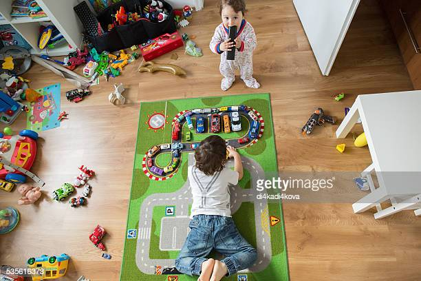 boys in the playroom
