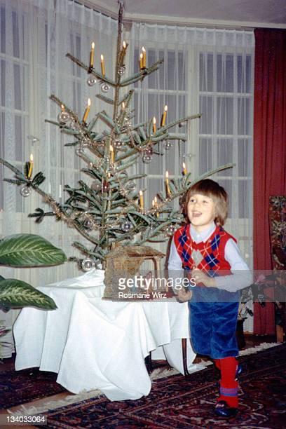 Boy's joy of Christmas